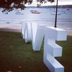 LOVE by the Beach! #WatsonsBay #DunBarHouse #Wedding #JustMarried #Ceremony #LOVE #SydneyWedding #Sydney #Congratulations