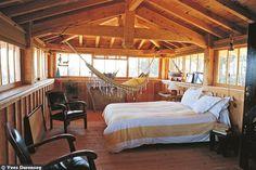 Une chambre ouverte sur les quatre côtés