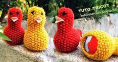 Tutoriels housses poussins en laine pour oeufs de Pâques