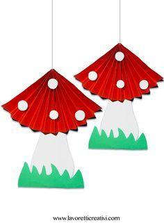 Mushroom craft idea for kids – Crafts and Worksheets for Preschool,Toddler and Kindergarten Kids Crafts, Toddler Crafts, Preschool Crafts, Projects For Kids, Diy For Kids, Art Projects, Diy And Crafts, Arts And Crafts, Paper Crafts