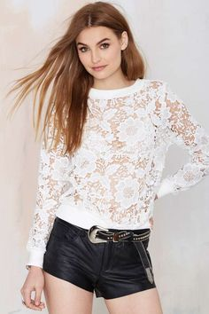 Tiger Mist Fairy Floss Lace Sweatshirt