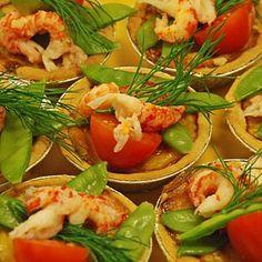 Recept minipajer med västerbottenost och kräftstjärtar