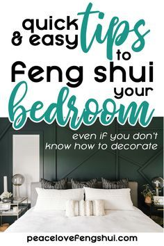 Bedroom Fung Shui, Feng Shui Master Bedroom, Bed Feng Shui, Feng Shui Bedroom Layout, Feng Shui House, Feng Shui Tips, Feng Shui Colours For Bedroom, Bedroom Wall Decor Above Bed, Bedroom Mirrors
