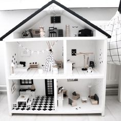 Set your own unique doll house together with .Set your own unique doll house along with this one The Effective Pictures - Ikea Dollhouse, Wooden Dollhouse, Dollhouse Ideas, Barbie Furniture, Modern Dollhouse Furniture, Kids Furniture, Casa Polly Pocket, Doll House Plans, Miniature Houses