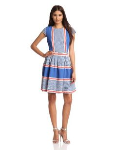 Gabby Skye Women`s Fit-and-Flare Dress
