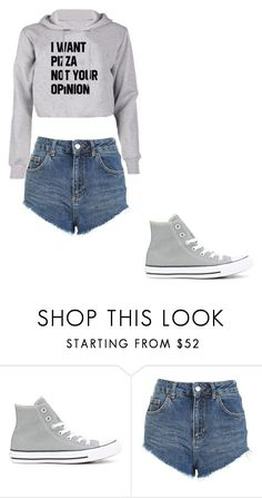 """Untitled #386"" by thenerdyfairy on Polyvore featuring Converse and Topshop"