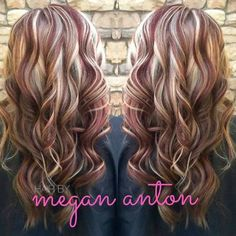 R by Hair By Megan Anton – Red & Blonde! ❤️✨ Informations About Red & blonde! ❤️✨ from Hair By Megan … Brown Hair With Blonde Highlights, Red To Blonde, Medium Blonde, Hair Medium, Medium Brown, Hair Highlights And Lowlights, Hair Color Highlights, Fall Highlights, Hair Color And Cut