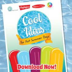 Free Printable Book for Kids: Cool Ideas for Hot Summer Days!
