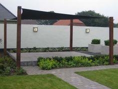 Afbeeldingsresultaat voor zonnedoek tuin