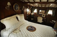 The main, presidential bedroom in the Sequoia, where presidents from Hoover to Carter have slept Presidential Seal, Meeting Venue, Classic Yachts, American Presidents, In Law Suite, Luxury Yachts, Shit Happens, Bedroom, Motor Yachts