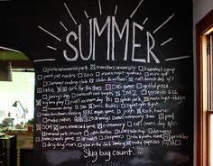 Chalk board ideas