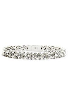 I wore this Nadri bracelet that was beautiful and as delicate as it looks.