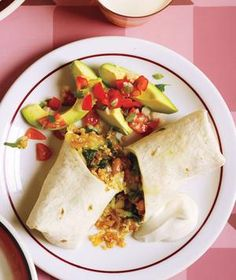 Easy Beach Meal - make and freeze filling. Heat up on beach, top with cheese and stuff into fresh tortillas.