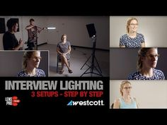 3 Interview Lighting Setups with Westcott LEDs Lighting Setups, Video Lighting, Studio Lighting, Video Photography, Light Photography, Everything Film, Home Studio Setup, Billy Ocean, Interview Style