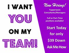 Message me! Earn extra money for Christmas!  Message me!  Kiminness.my.tupperware.com