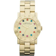 Marc By Marc Jacobs Watch, Women's Gold Ion-Plated Stainless Steel... ($200) ❤ liked on Polyvore