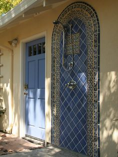 """""""Gorgeous outdoor mexican tile shower."""""""