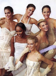 Supers: Cindy Crawford, Stephanie Seymore, Christy Turlington, Linda Evangelista, Claudia Schiffer & Naomi Cambell