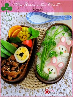 Two Bears in the Forest Bento by Cooking-Gallery, via Flickr