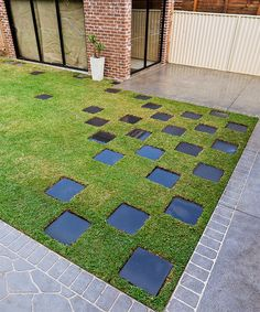 Chequerboard paving can instantly add character and purpose to any outdoor space.