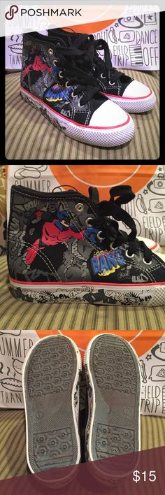 NWOT Canvas High-tops Size 1 Brand new! Never been worn. Boys size 1. Akuma Shoes Sneakers