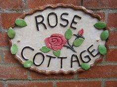 Ceramic House Name Sign  Personalised for you by EmbarPottery