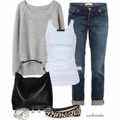 {STYLE INSPIRATION} What a cute, relaxed and easy to put together outfit!! xx