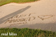 cute photo idea for you ladies & your golf course weddings @Megan Howk @Jenna Reed