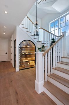 Cabinet under stairs cupboard under staircase furniture under slope Foyer Design, Staircase Design, Design Design, Style At Home, Cabinet Under Stairs, Dream Home Design, House Design, Design Scandinavian, Home Wine Cellars