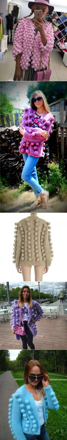 'Шишечки Лало -кардиган спицами'   ВЯЗАНИЕ. СПИЦЫ   Постила Knitting Projects, Crochet Projects, Parisian Chic Style, Crotchet Patterns, Pink Cardigan, Knit Fashion, Knitwear, Knit Crochet, Diy And Crafts