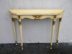 FRENCH CARVED PAINTED CONSOLE TABLE #5641 #FrenchCountryProvincial