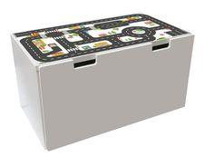 Spelen met een speelgoedauto, is de truck of politie auto brand op de straten een heleboel plezier met dit tafeltje! Onze meubels sticker bieden een betaalbaar alternatief voor traditionele spelen tapijten en laat uw kind te spelen ook staande. Deze kleine straat tafel is een echte eye-catcher en schijnt als decoratie in een kinderslaapkamer, in de keuken of woonkamer.  Meubels sticker geschikt voor de Bank IKEA STUVA opslag (90 x 50 x 50)  Sticker grootte: 89,5 x 48,9 cm  Onze meubels en de…
