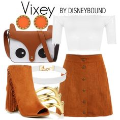 Vixey by leslieakay on Polyvore featuring WearAll, Smith/Grey, Vanessa Mooney, House of Harlow 1960, disney, disneybound and disneycharacter