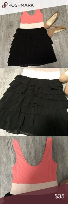 Cute Cocktail Dress! EUC! Worn once! Scoop neck and scoop back! Approx. Length 33 inches from shoulder to bottom Express Dresses