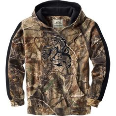 Men's Realtree Camo Casual V-Neck Outfitter Hoodie at Legendary Whitetails
