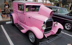 1928 Ford flower delivery van - Pink -