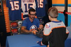 Cal Clutterbuck meeting and greeting with his fans.