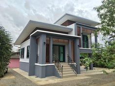 2 Storey House Design, Duplex House Design, Simple House Design, House Front Design, Roof Design, Sims House Plans, House Layout Plans, Small House Plans, House Layouts