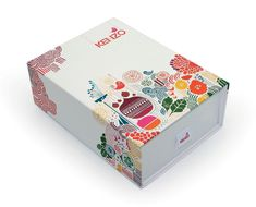 kenzo box for christmas - good use of white space and color with illustration