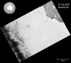 One of the largest icebergs ever recorded, packing about a trillion tons of ice or enough to fill up two Lake Eries, has just split off from Antarctica, in a much anticipated, though not celebrated, calving event.