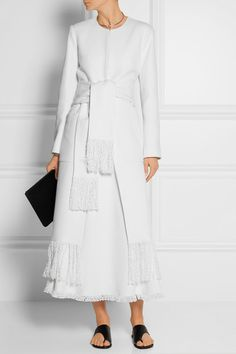 Adam Lippes | Fringed linen and cotton-blend tweed coat | NET-A-PORTER.COM