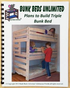 Triple Bunk Bed Woodworking Plan (not a bed) to Build Your Own that Sleeps Three…