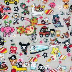 tk112A   1 Yard PVC Coated Nylon Waterproof Fabric   TokiDoki Cartoon Characters, Trasporto Bambinone   Gray (W140) -in Fabric from Home & Garden on Aliexpress.com   Alibaba Group