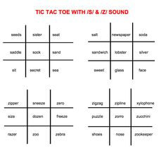 Speech and Language LaunchPad: Articulation /s,z,r,l/ Tic Tac Toe *FREEBIE* Pinned by SOS Inc. Resources @sostherapy http://pinterest.com/sostherapy.