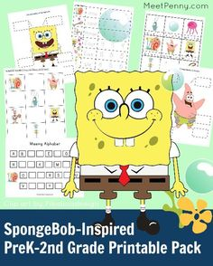 Free SpongeBob-Inspired Printable Pack