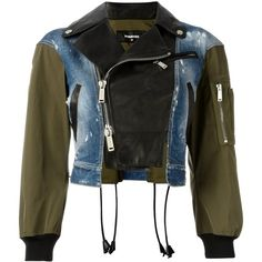 Dsquared2 triple material bomber jacket (€2.065) ❤ liked on Polyvore featuring outerwear, jackets, black, bomber style jacket, long sleeve jacket, dsquared2 jacket, logo jackets and blouson jacket