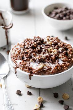 Nutella Hot Chocolate Oatmeal
