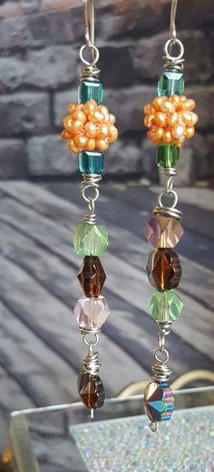 Freshwater .. pearls .. jewelry.. earrings .. drop earrings .. dangle earrings ... swarovski .. pearl .. jewelry lovers .. wearable art.. by WearableArtByAbrilla on Etsy