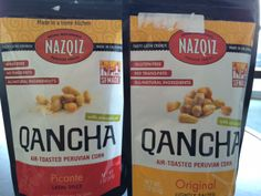 Nazquiz Peruvian Snacks - Qancha Air-Toasted Peruvian Corn in flavors Picante and Original are now #AshleyKoffApproved