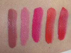 Maybelline Color Jolt Intense Lip Paint Swatches (Stripped Down, Never Bare, Fight Me Fuchsia, Orange Outburst, Talk Back Red)